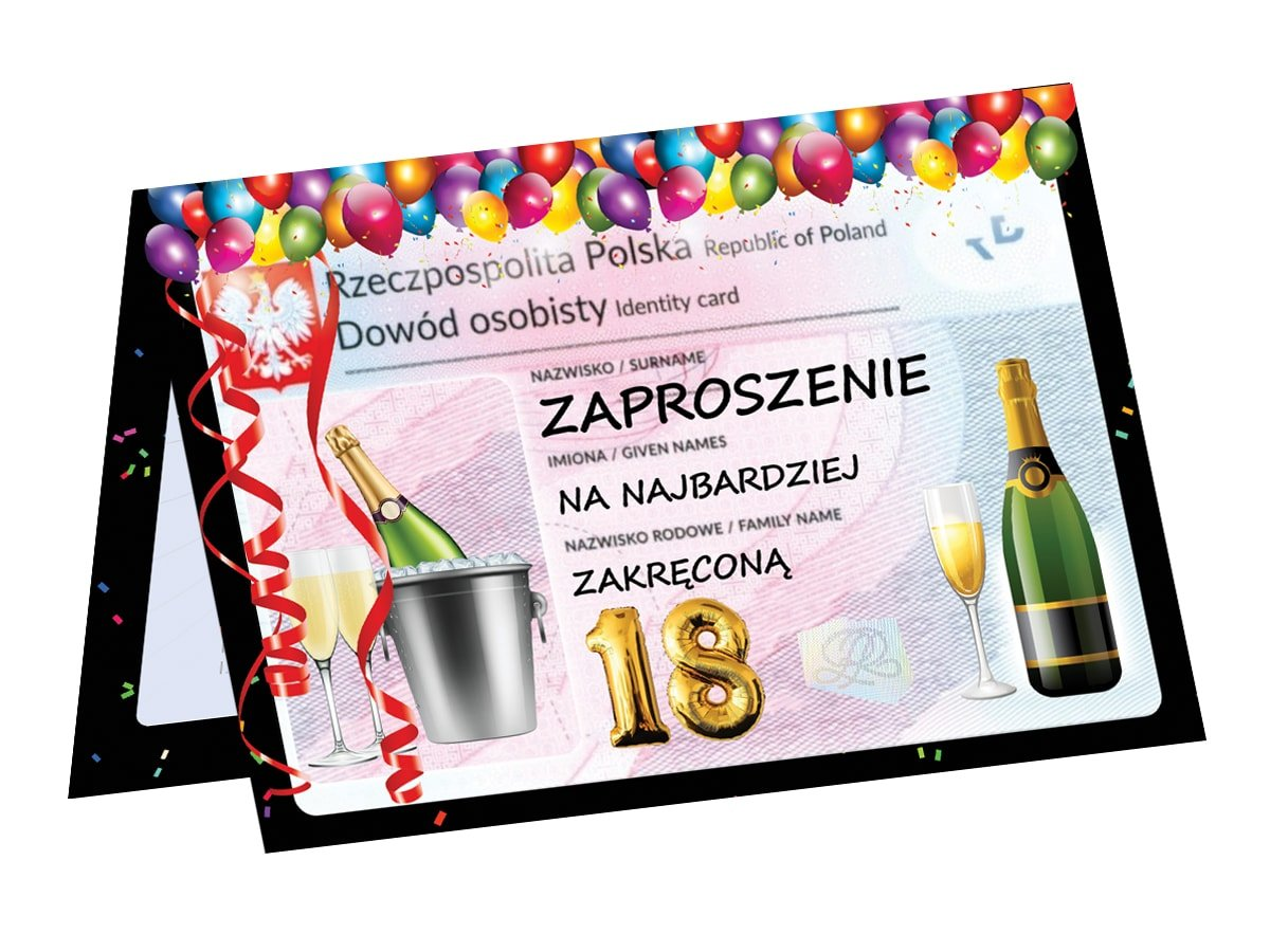 18th Birthday Invitation 6 Pc Party Supplies