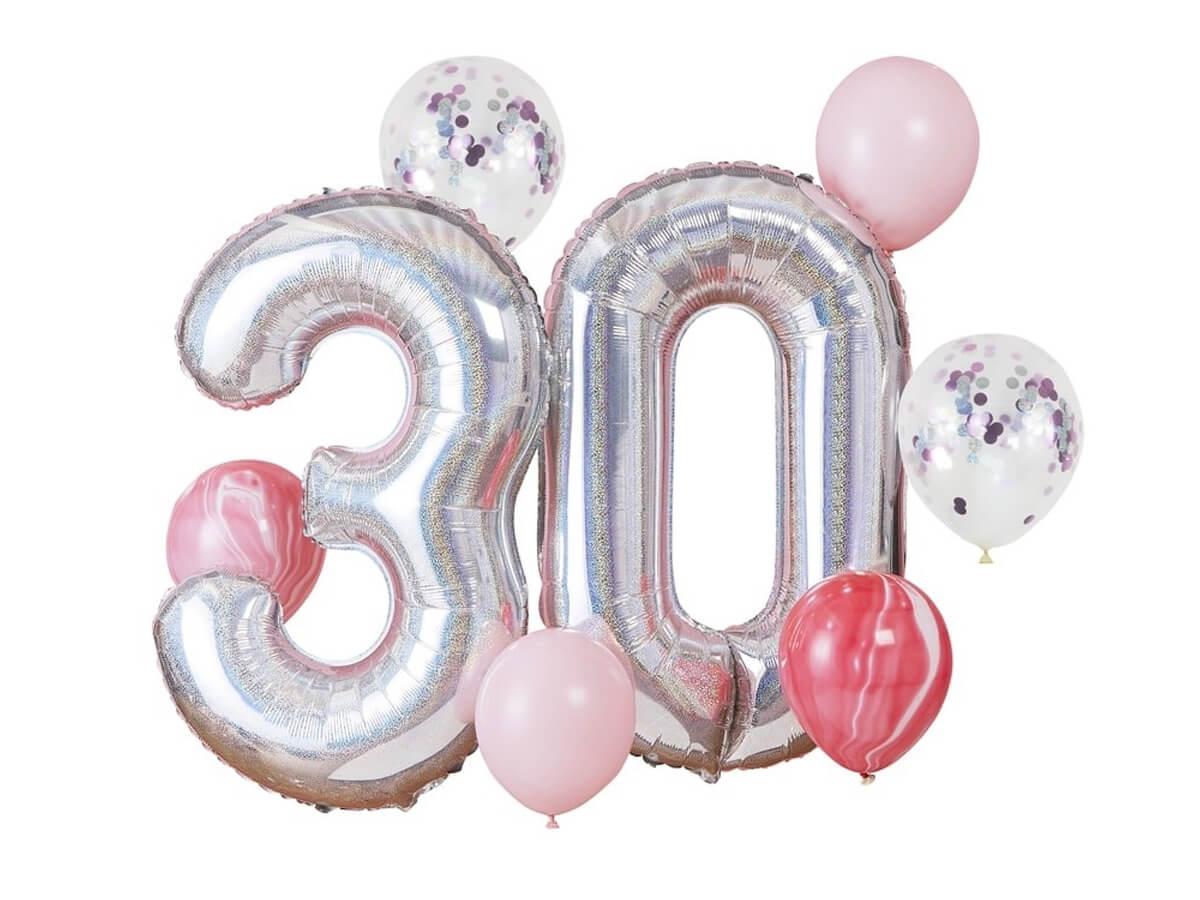 30th Birthday Balloon Bundle Balloons Foil Balloons