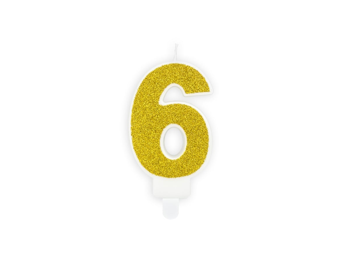 Gold Numbers Number 3 Candle Birthday