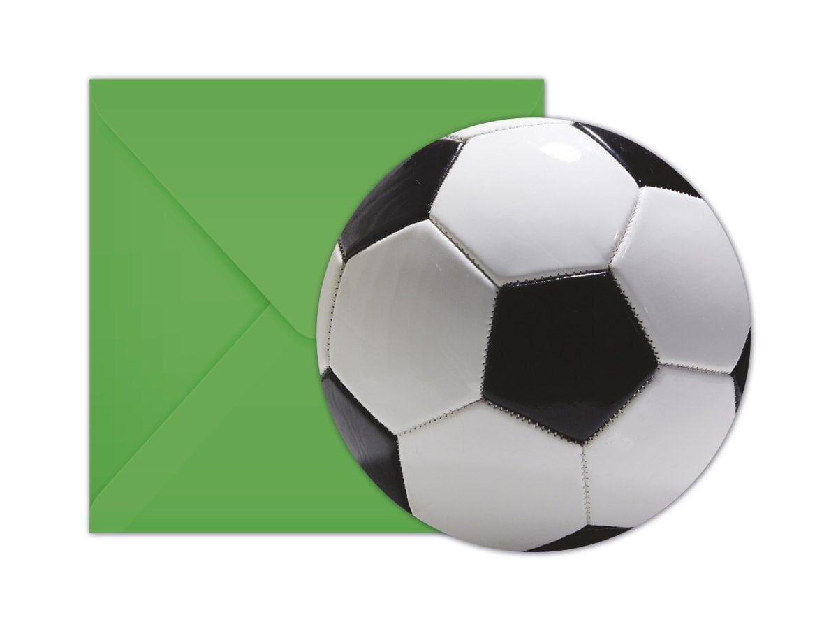 Invitation Card Envelope Football Party 6 Pc Party