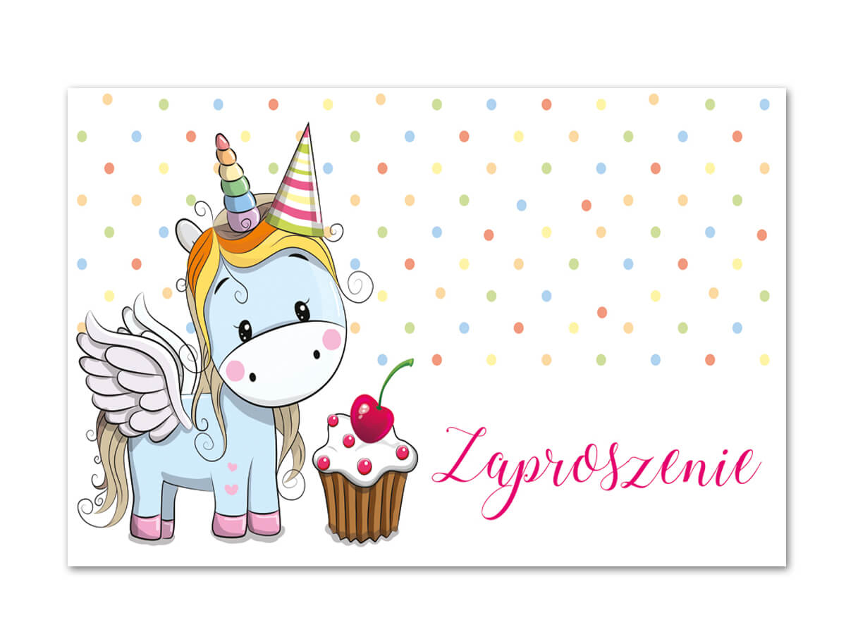 Invitation Card Envelope Magical Unicorn 1 Pc Party