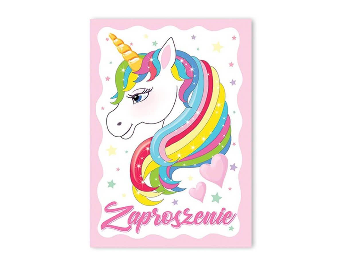 Invitation Card Envelope Unicorn 1 Pc Party Supplies