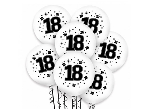 18th Birthday Balloons - 30 cm - 50 pcs