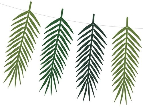 9 Tropical Leaves and a Fishing Line 125 cm