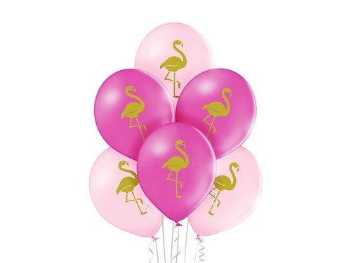 "Balloons Flamingo - 12"" - 6 pcs"