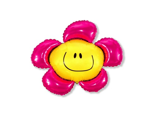 Big foil balloon pink flower - 94 cm