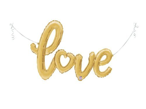 Foil balloon Love gold