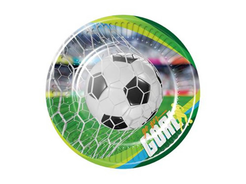 Football Paper Plates - 18 cm - 8 pcs