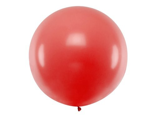 Giant Balloon 1m diameter - red pastel.