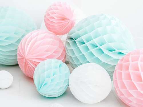 Honeycomb Ball light pink - 30 cm - 1 pc