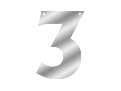 Letterbanner One Number - 1 pc