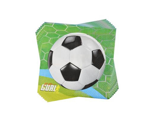 Lunch napkins Football - 33 cm - 20 pc