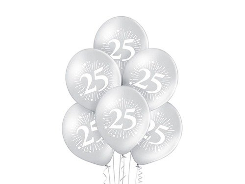 Metallic balloons 25 - 27 - 6 pcs