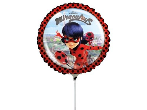 Mini Shape Miraculous Foil Balloon - 23 cm - 1 pc