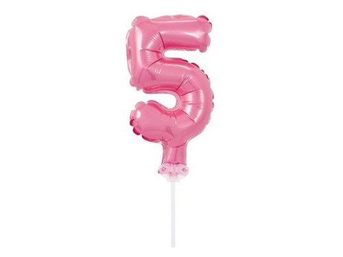 Mini Shape Number 5 Pink Foil Balloon - 13 cm - 1 pc