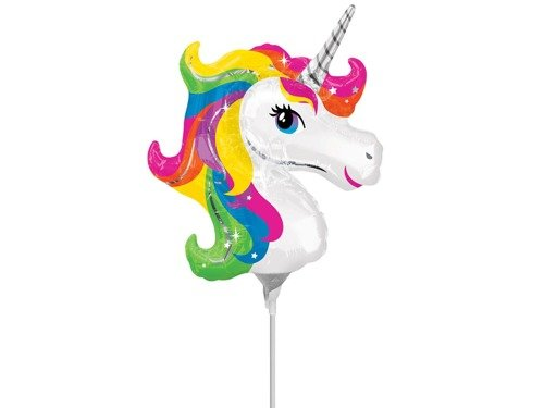 Mini Shape Unicorn Foil Balloon - 1 pc