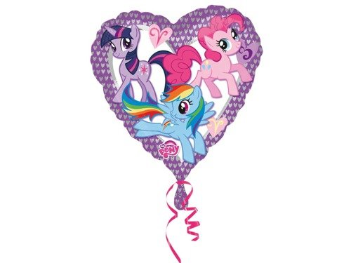 My Little Pony Heart Foil Balloon - 43 cm - 1 pc