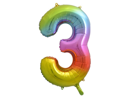 Number 0 Balloons SuperShape Foil Balloon - 85 cm - 1 pc