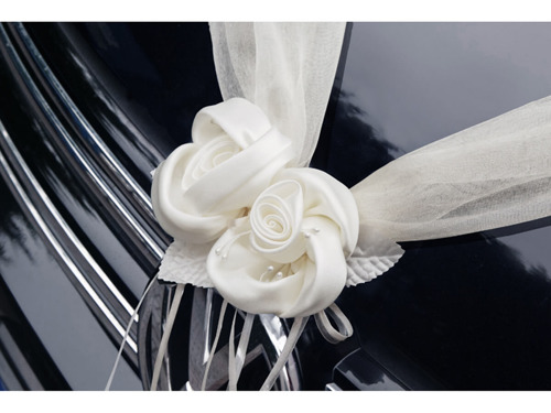 Organza garlands, white - 1.8 m - 2 pcs