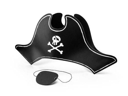 Pirate masks - 8 pcs
