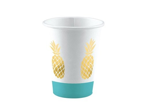 Plastic cups Pineapple - 250 ml - 8 pcs