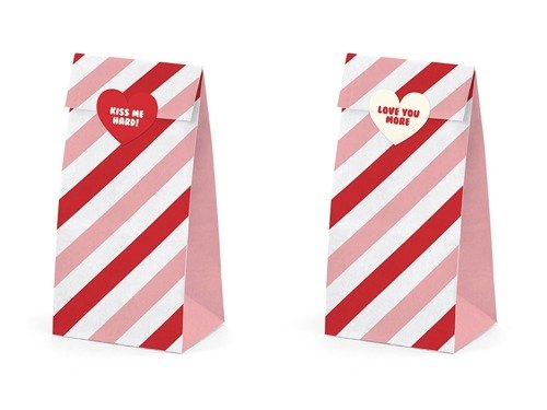 Sweet Love gift bags - 8 x 18 cm - 6 pcs