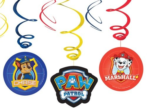 Swirl Decorations Paw Patrol - 6 pcs