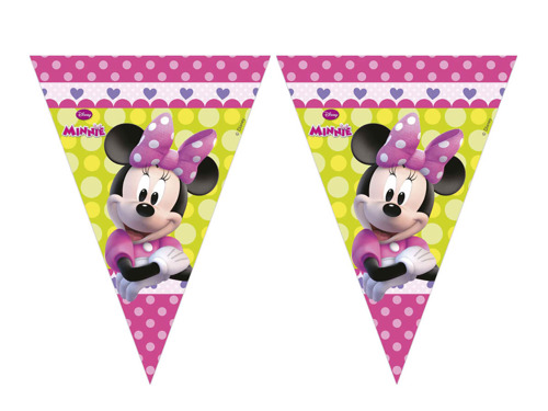 Triangle flag banner Minnie Mouse - 230 cm - 1 pc